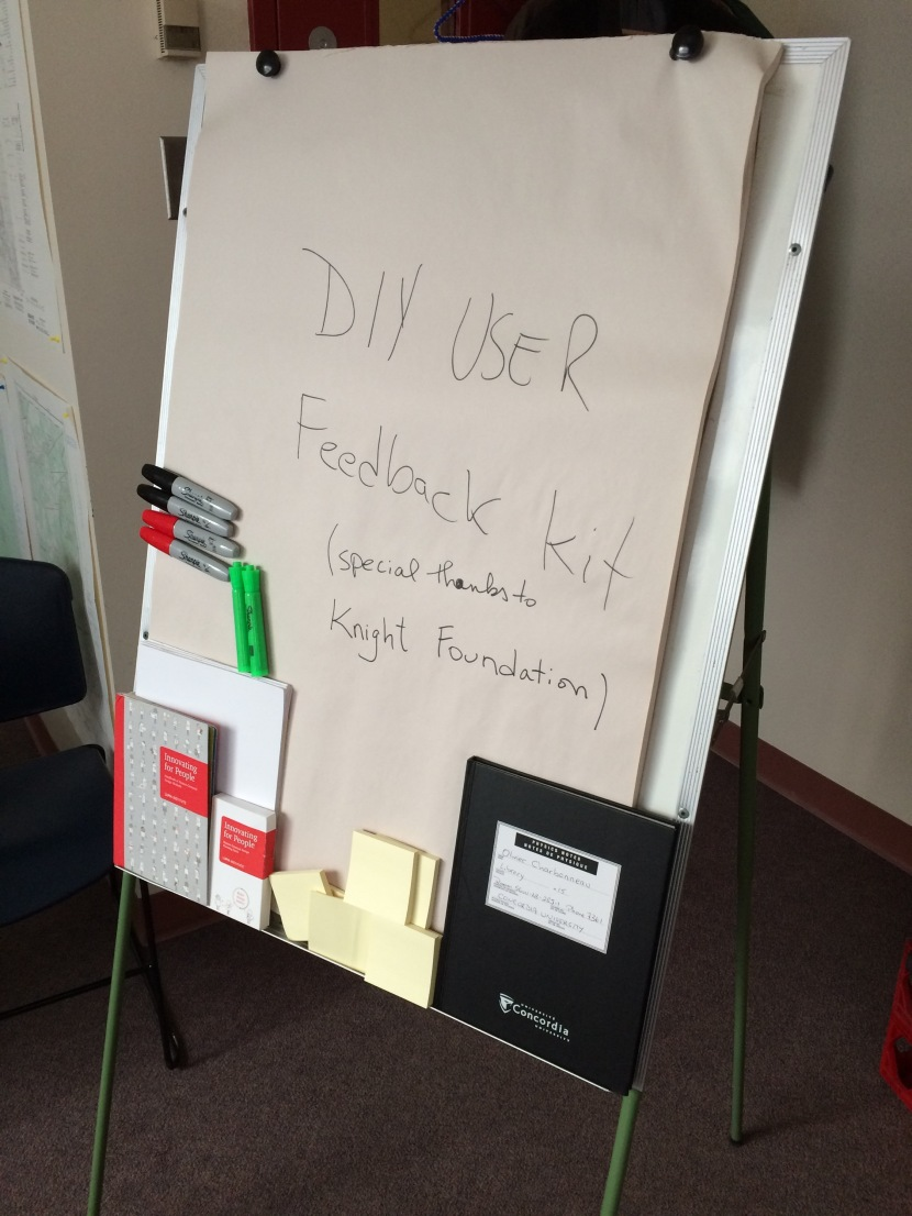 DIY user feedback kit